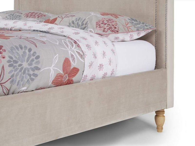 Serene Fabric Bed Louise  Upholstered Fabric Bed - Stone Bed Kings