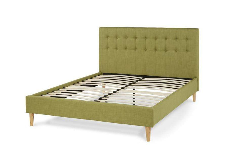 Serene Fabric Bed Matilda  Upholstered Fabric Bed - Olive Bed Kings