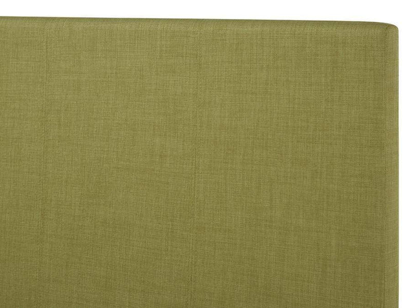 Serene Fabric Bed Single 90cm 3ft Scarlet  Upholstered Fabric Bed - Olive Bed Kings