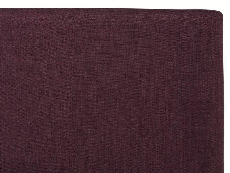 Serene Fabric Bed Single 90cm 3ft Scarlet  Upholstered Fabric Bed - Plum Bed Kings