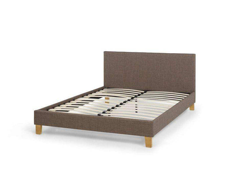 Serene Fabric Bed Sophia  Upholstered Fabric Bed - Chocolate Bed Kings