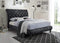 Venice Bed Frame - Black Crushed Velvet