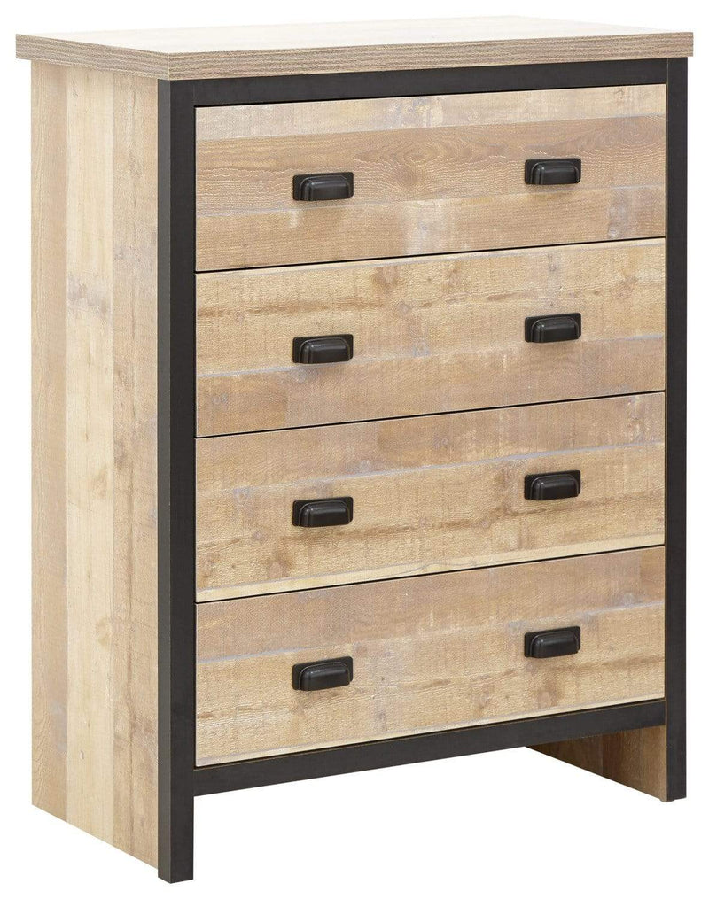GFW Bedroom Set Boston 4 Piece Set Oak