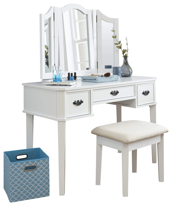 GFW Dressing Table Set Bella Dressing Table Set  White