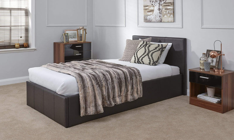 GFW Storage Bed End Lift Ottoman Brown