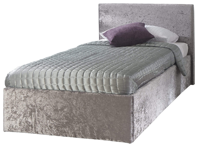 GFW Storage Bed End Lift Ottoman Crushed Velvet