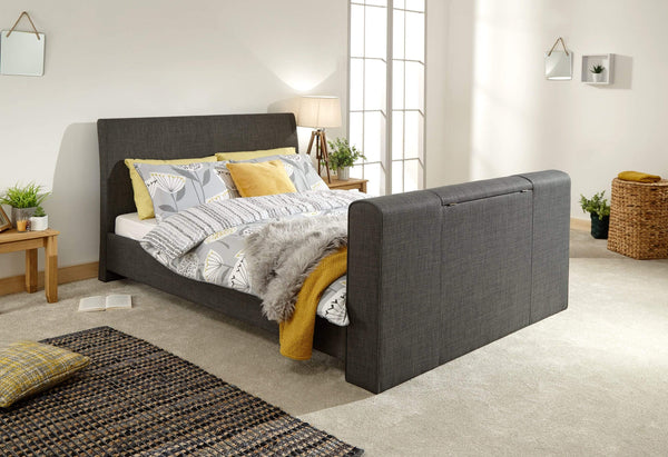GFW TV Bed Brooklyn Pneumatic Tv Bed Charcoal Grey