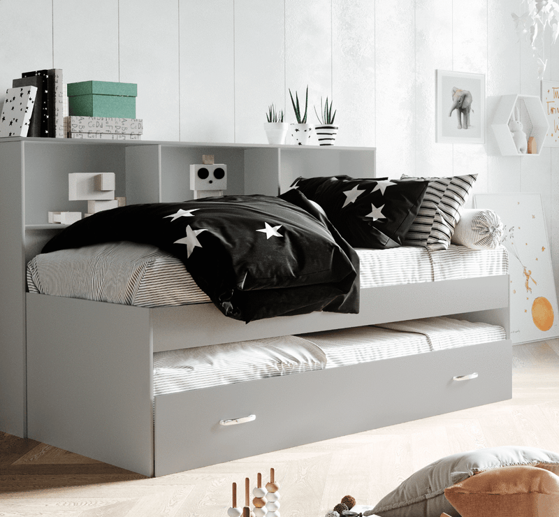 Zelda Guest Bed With Storage - Grey