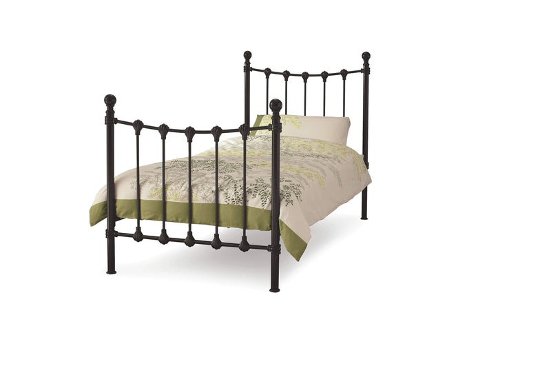 Serene Guest Bed Single 90cm 3ft Marseille Metal Bed & Guest Bed Set - Black Bed Kings