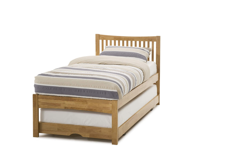 Serene Guest Bed Single 90cm 3ft Mya Wood Guest Bed - Oak Bed Kings