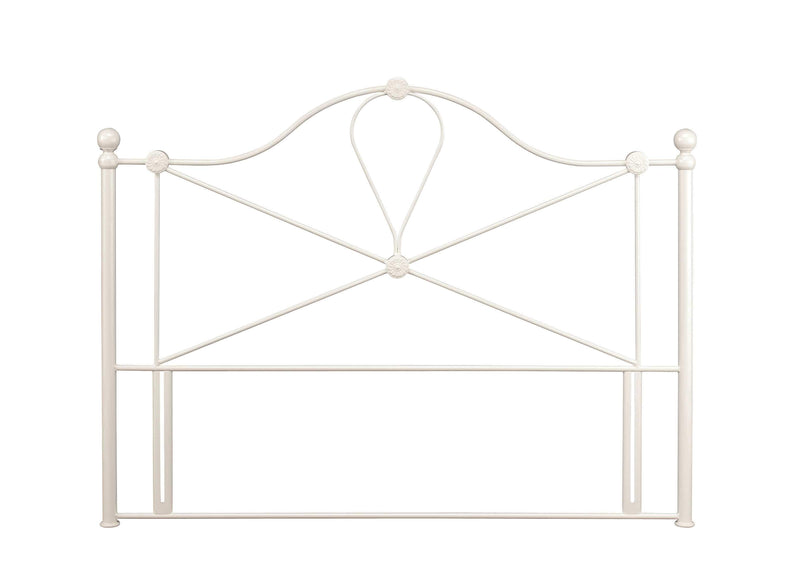 Serene Headboard Lyon  Metal Headboard - Ivory Bed Kings
