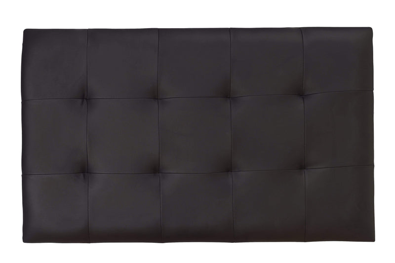 Serene Headboard Romana  Leather Headboard - Black Bed Kings