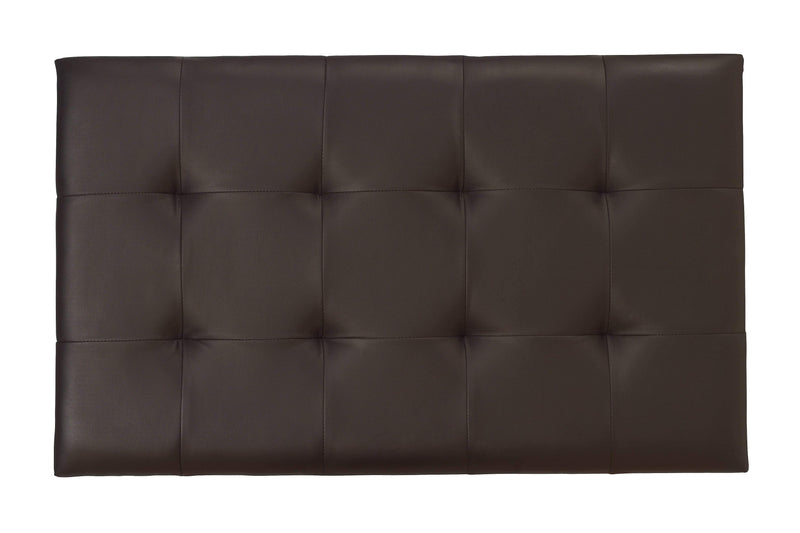 Serene Headboard Romana  Leather Headboard - Brown Bed Kings