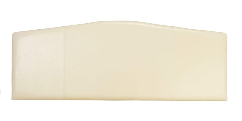 Serene Headboard Rosa  Leather Headboard - Cream Bed Kings
