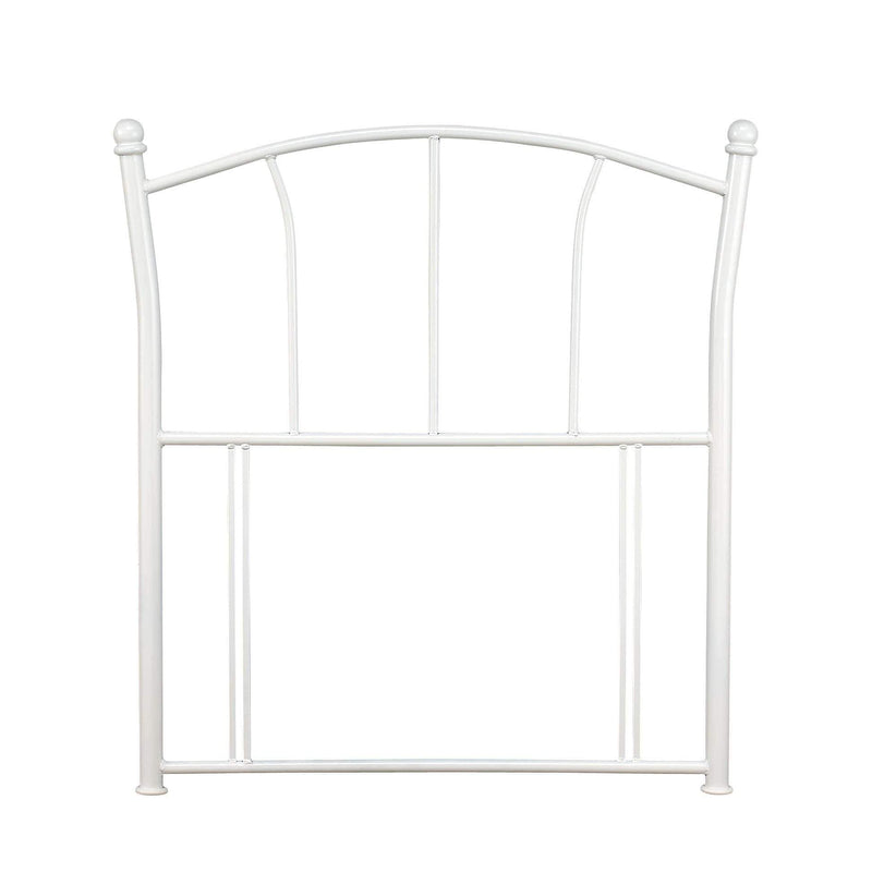 Serene Headboard Single 90cm 3ft Penny  Metal Headboard - White Bed Kings