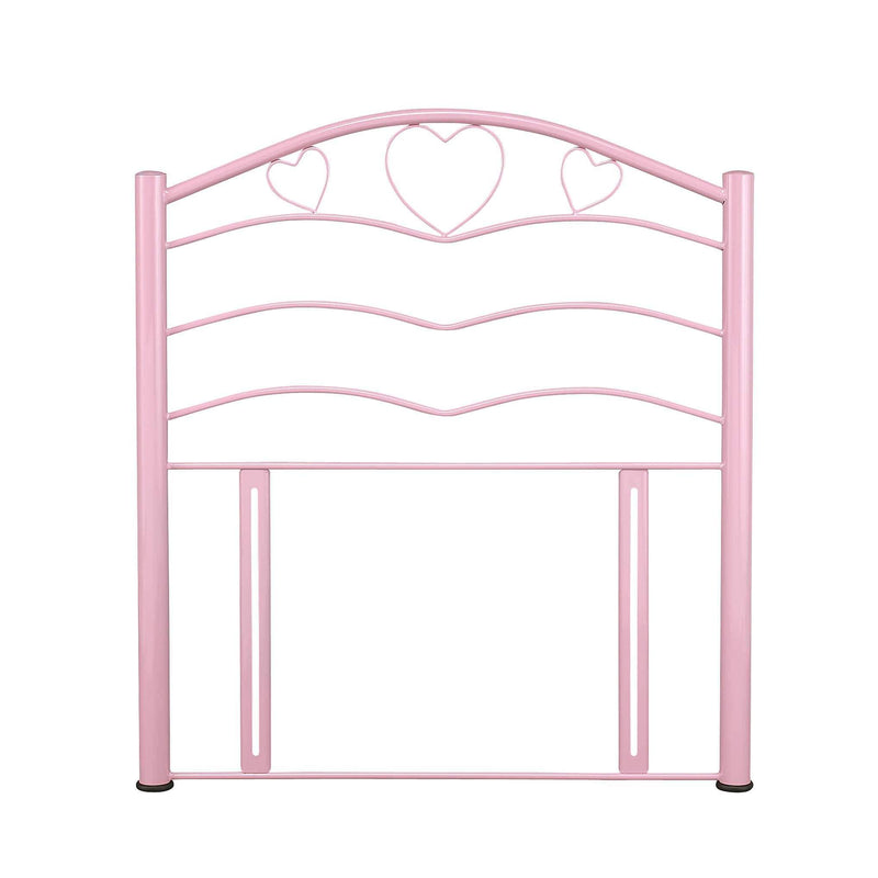 Serene Headboard Single 90cm 3ft Yasmin  Metal Headboard - Pink Bed Kings