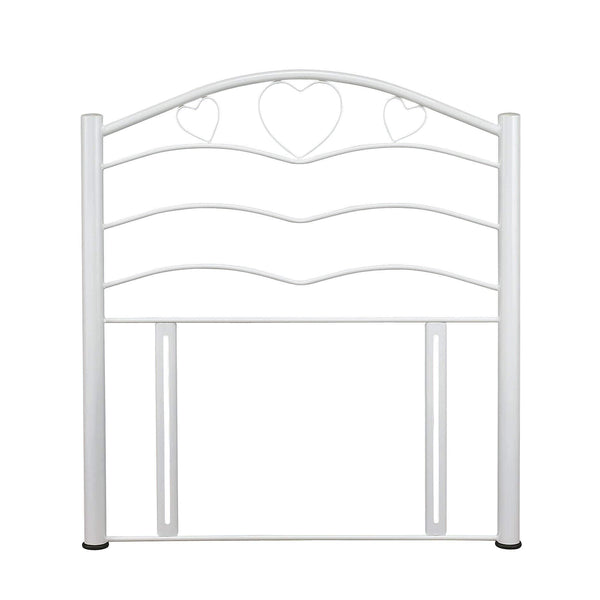 Serene Headboard Single 90cm 3ft Yasmin  Metal Headboard - White Bed Kings