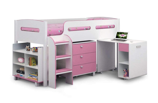 Julian Bowen CABIN BED Kimbo Pink Cabin Bed