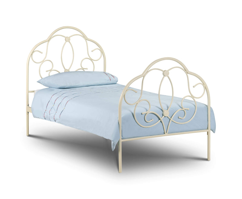 Julian Bowen Metal Bed Arabella Bed - Metal Beds - Stone White Eggshell