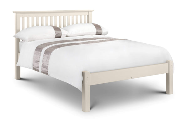 Julian Bowen Wood Bed Barcelona Bed Hfe White - Wood - Stone White