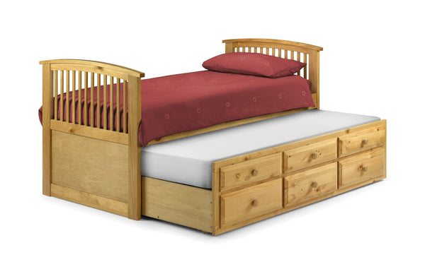Julian Bowen Wood Bed Single 90cm 3ft Hornblower Pine Bed - Wood - Jb Antique