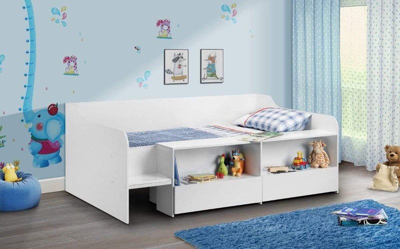 Julian Bowen LOW SLEEPER Stella Low Sleeper Pure White Bed Kings