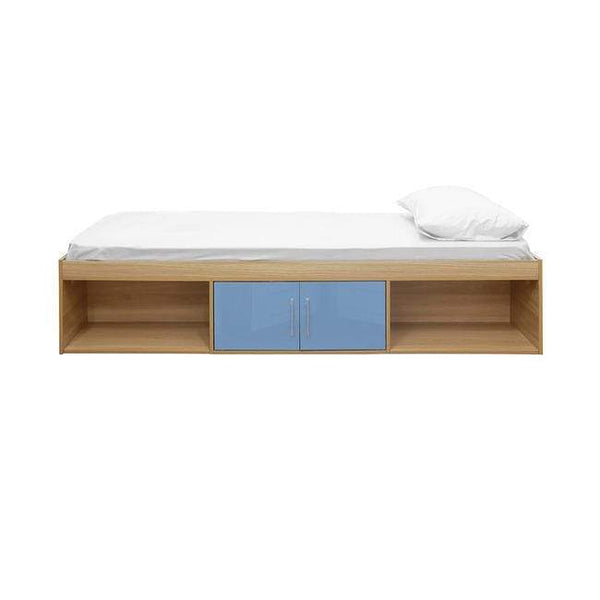 LPD Cabin Bed Dakota Cabin Bed Oak-Blue Cabin Bed