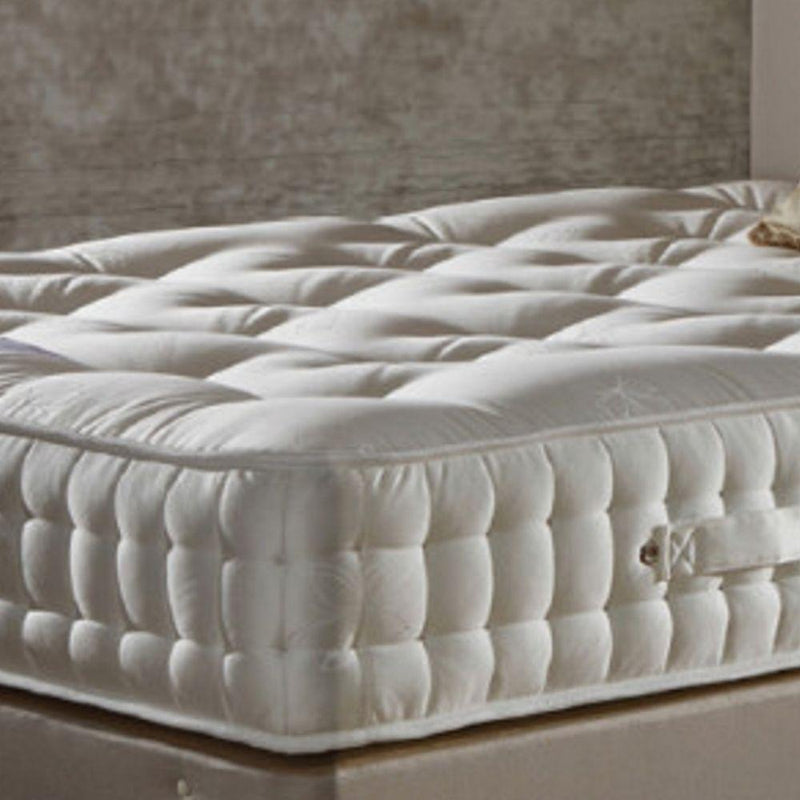 Deluxe Beds Mattress Single Natural Luxury - 2000 Pocket Spring Mattress - Firm Firmness Bed Kings