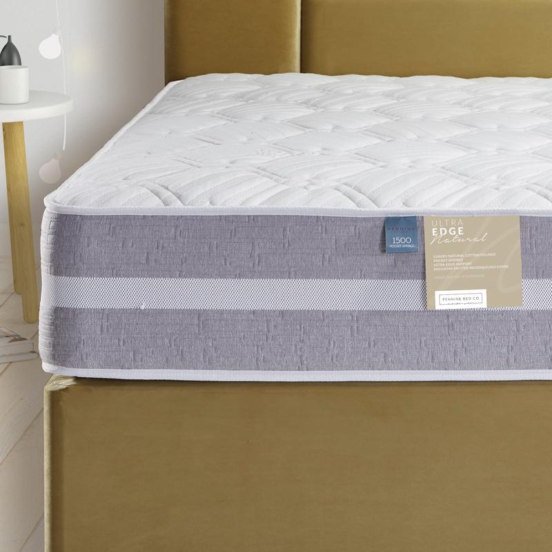 Deluxe Beds Mattress Ultra Edge Natural Memory Foam & 1000 Pocket Spring Mattress Bed Kings