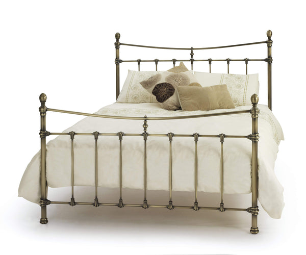 Serene Metal Bed Olivia  Metal Bed - Brass Bed Kings