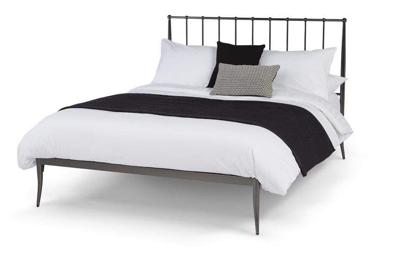 Serene Metal Bed Saturn  Metal Precious Metal Bed - Black Bed Kings