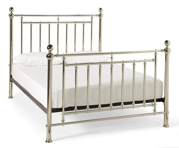 Serene Metal Bed Solomon  Metal Bed - Nickel Bed Kings