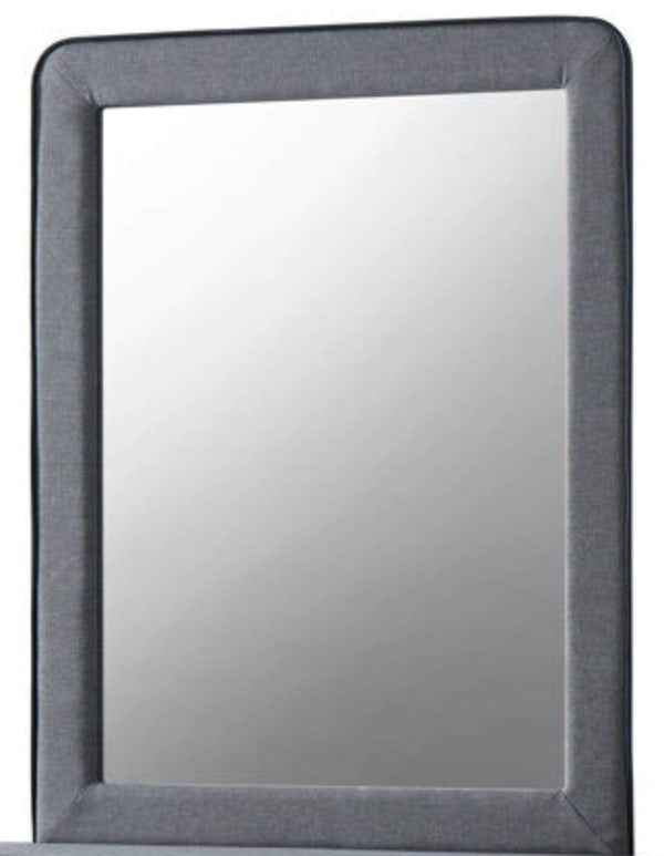 Artisan Bed Company Mirror Stockholm Grey Fabric Mirror Bed Kings