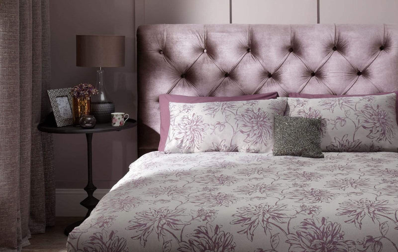 Serene Bedstead Alexandra  Fabric Upholstered Bedstead - Lilac
