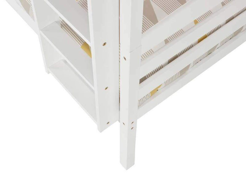 Serene Bunk Bed Single 90cm 3ft Brooke  Wood Bunk Bed  - White