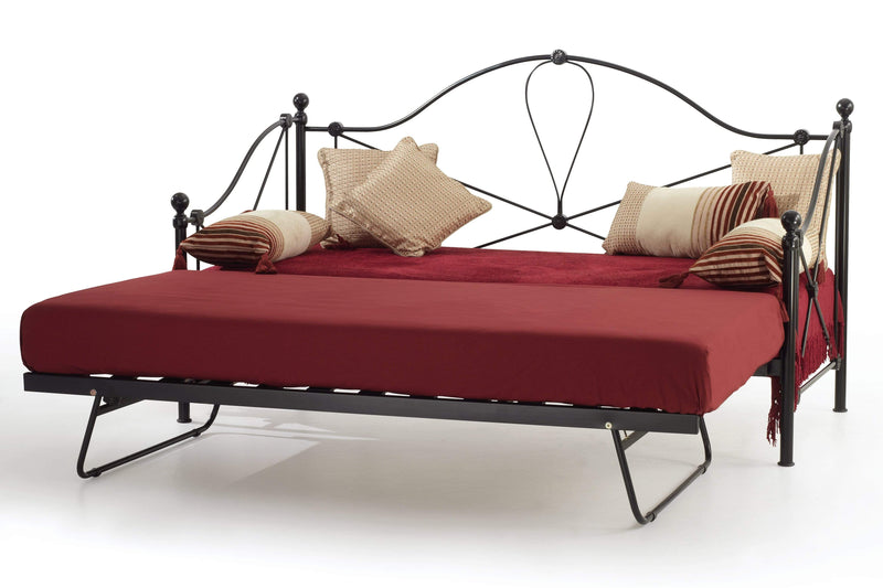 Serene Day Bed and Trundle Set Lyon  Metal Day Bed & Guest Bed Set - Black