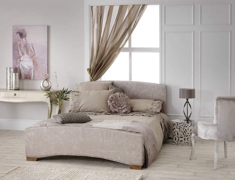 Serene Fabric Bed Anastasia  Fabric Upholstered Bed - Mink