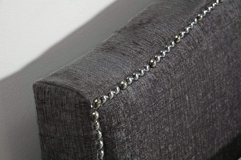 Serene Fabric Bed Charlotte  Fabric Upholstered Bed - Charcoal