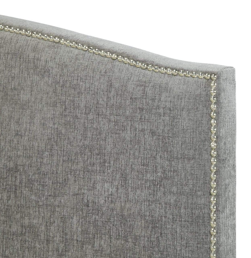 Serene Fabric Bed Charlotte  Fabric Upholstered Bed - Steel
