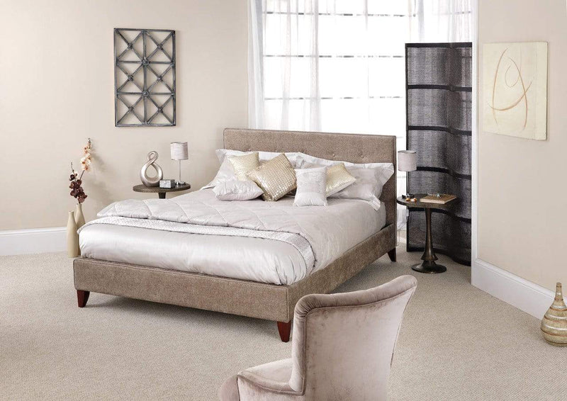 Serene Fabric Bed Chelsea  Fabric Upholstered Bed - Fudge