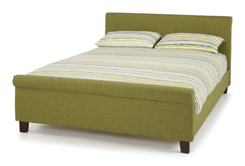 Serene Fabric Bed Hazel  Fabric Upholstered Bed - Olive