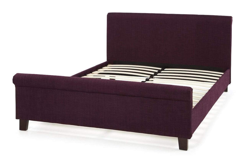 Serene Fabric Bed Hazel  Fabric Upholstered Bed - Plum