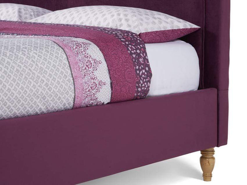 Serene Fabric Bed Joyce  Upholstered Fabric Bed - Mulberry
