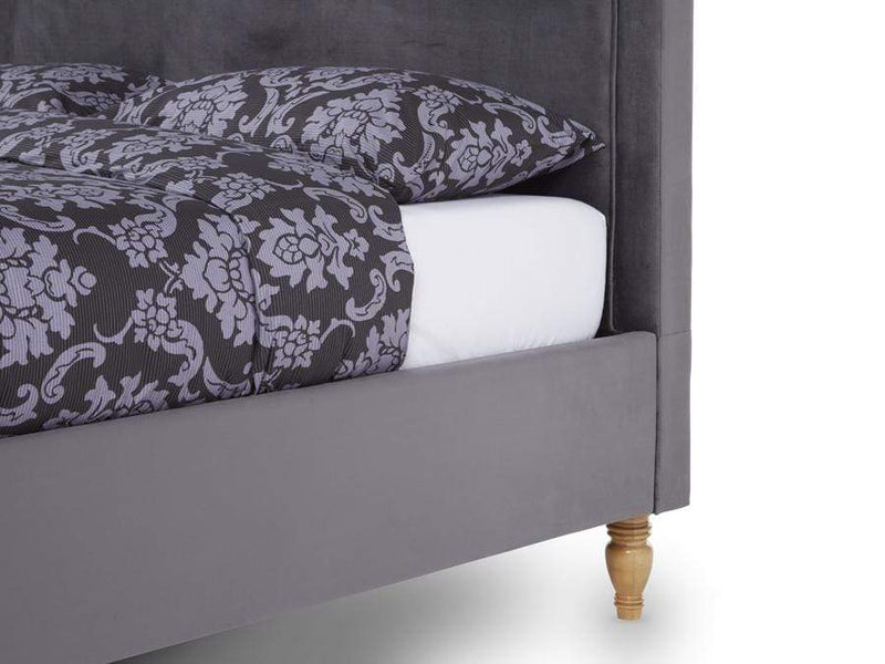 Serene Fabric Bed Joyce  Upholstered Fabric Bed - Smoke