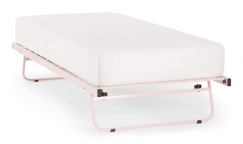 Serene Guest Bed Guest Bed  Metal Guest Bed - Pink