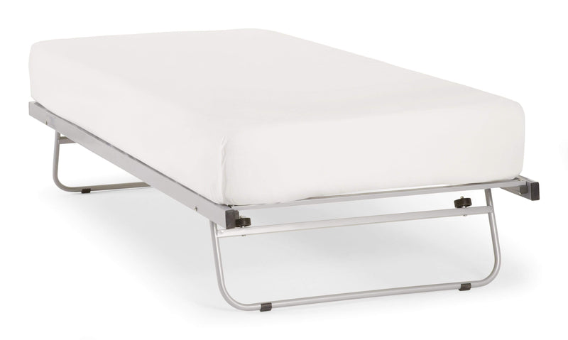 Serene Guest Bed Guest Bed  Metal Guest Bed - Silver