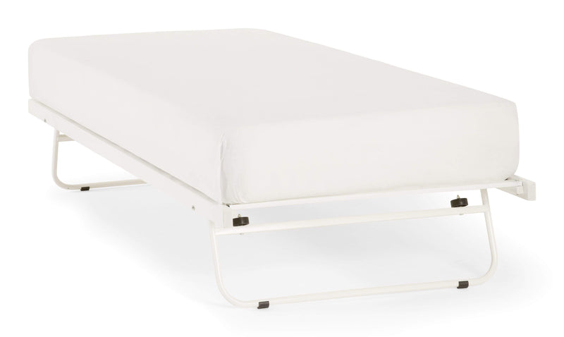 Serene Guest Bed Guest Bed  Metal Guest Bed - White