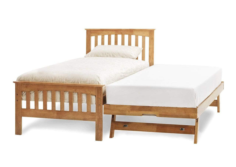 Serene Guest Bed Single 90cm 3ft Amelia Wood Guest Bed - Oak