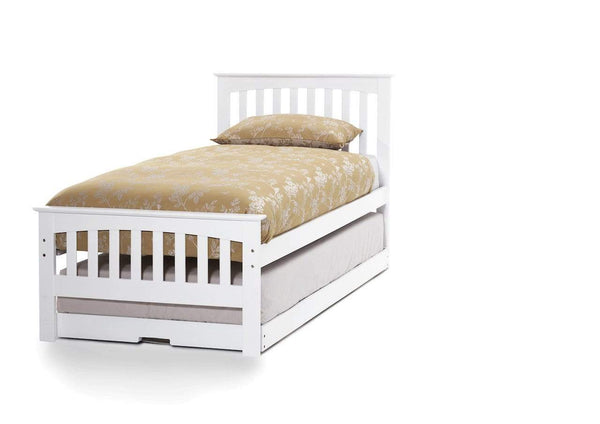Serene Guest Bed Single 90cm 3ft Amelia Wood Guest Bed - White