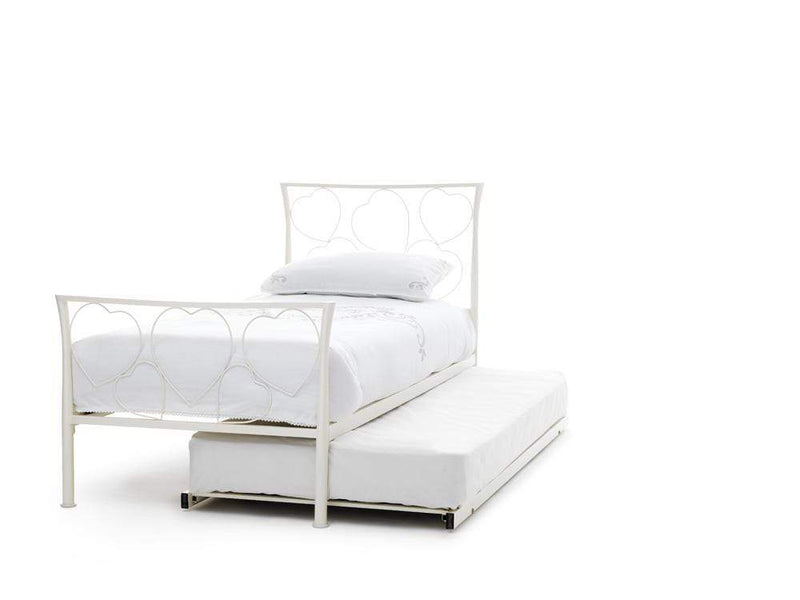 Serene Guest Bed Single 90cm 3ft Chloe Metal Guest Bed - Ivory